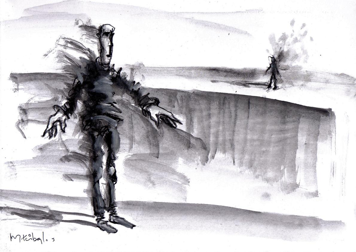 Un texto de Fernando Prats, un dibujo de Miguel Ruibal