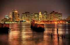 Darkness Falls over a City *E#76 (Craig Stevens <castevens12>) Tags: longexposure skyline night landscape downtown cityscape nightshot nikond70 nighttime hdr highdynamicrange bostonharbor lucisart bostonmassachusetts massachusettsbay 1870mmf3556 mavericktstation