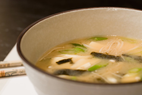 Miso Soup with Tofu and Mushrooms