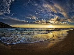 Boambee Beach (Ian@NZFlickr) Tags: beach sunrise waves australia explore nsw frontpage soe boambee supershot flickrsbest mywinners infinestyle topaz3