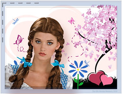 Spring-is-Love (gabriel.georgina) Tags: old woman flower tree love girl butterfly fire spring heart flames young burning ggl