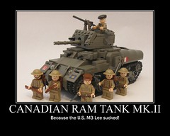 "Ram Tank Poster (""Rumrunner"") Tags: infantry army gun tank brodie wwii helmet machine canadian 2nd prototype ww2 decal waterslide custom ram armour worldwar2 brigade mkii allies armoured brickarms m1919"