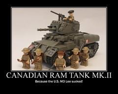 "Ram Tank Poster (""Rumrunner"") Tags: infantry army gun tank brodie wwii helmet machine canadian 2nd prototype ww2 decal waterslide custom ram armour worldwar2 brigade mkii allies armoured brickarms m1919"