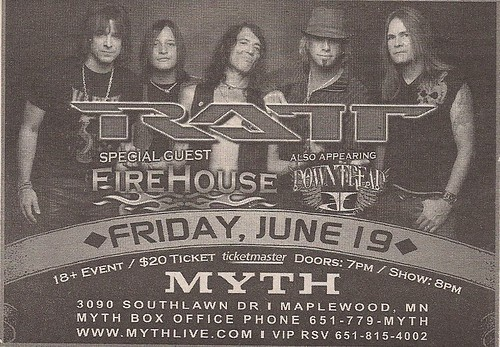 06-19-09 Ratt/Firehouse/Downtread @ Myth, Maplewood, MN
