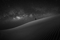 Me and the Milky Way (Waheed Akhtar Photography) Tags: longexposure nightphotography sky canon stars desert mark iii uae 5d alain milkyway 5dmarkiii