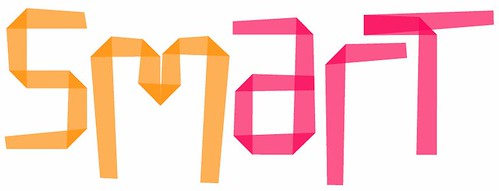Sm{mart} header--the word smart in pink and orange