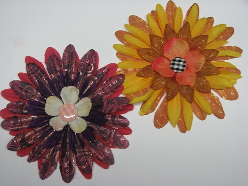 Faux Batik Dyed Flowers016