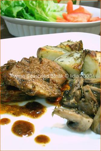 thyme steak