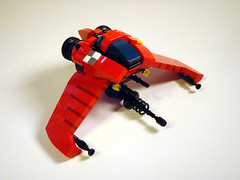 Wryneck (Buster) Tags: red toy fighter lego contest whatisthat swoosh moc biggun starfighter wryneck foitsop legogeekfriends itsacousinofthewoodpecker