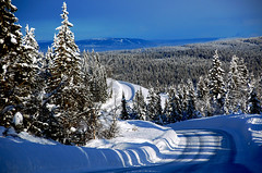 on the road (aaberg) Tags: road trees winter snow car sunshine norway norge vinter nikon norwegen roadtrip lillehammer explore bil february wonderland vei februar sn solskinn d40 oppland speedphotography opplandfylke