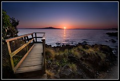 The Wonky Path (Chris Gin) Tags: newzealand beach sunrise island auckland filter nz nd milford graduated rangitoto photocontesttnc10
