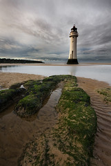 Perch Rock Lighthouse (BarneyF) Tags: winter lighthouse reflection water rock liverpool landscape sand wirral newbrighton merseyside perchrock aplusphoto