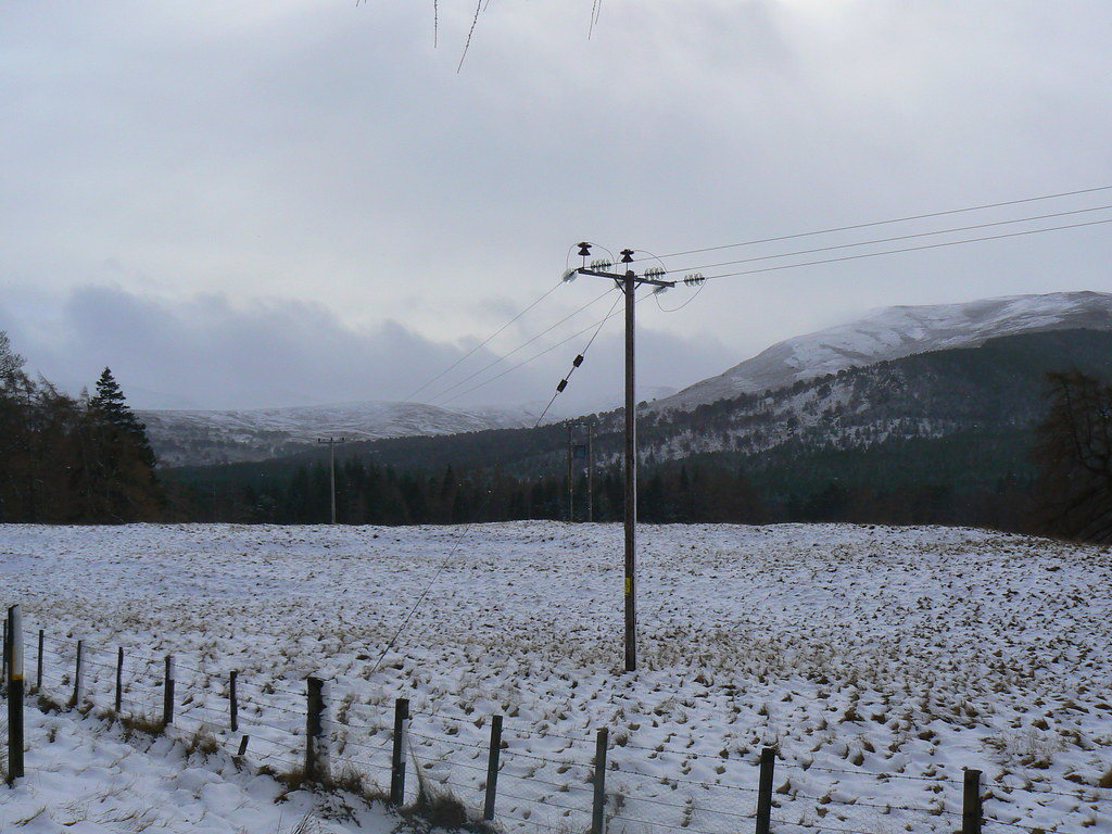 Snowy fields near Invercauld
