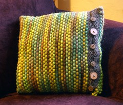 wovenpillow (pumpkinknits) Tags: wool mohair verdant weaving loom rigid helloyarn heddle fiberclub
