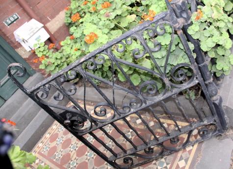 Half-open gate