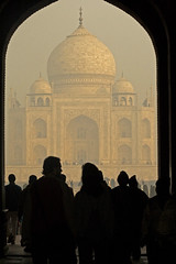 Taj Mahal - our first glimpse