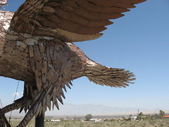 Large metal artwork south of  Borrego Springs, Califronia (Bob_ Perry) Tags: ancient borrego prehistoric avery metalsculpture borregosprings metalart galleta skyart sandiegoart breceda galletameadows galletameadow