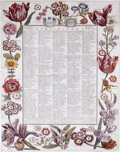 013- Pagina con relacion de los suscriptores-Los doce mesees del año en flores