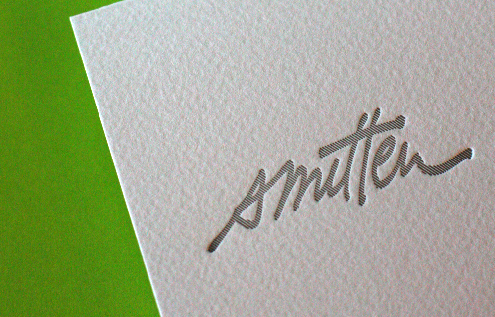 Smitten Letterpress notecards