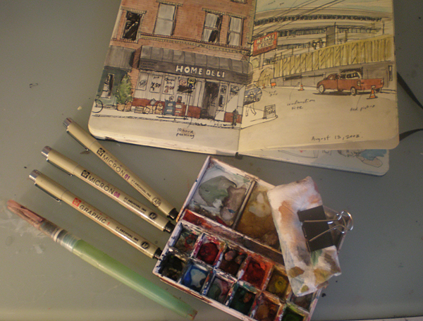 My urban sketching kit
