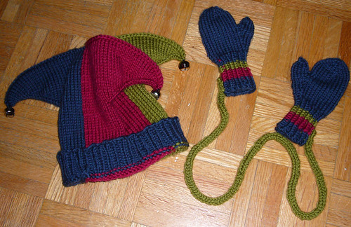 Hat and Mitts made for Callum