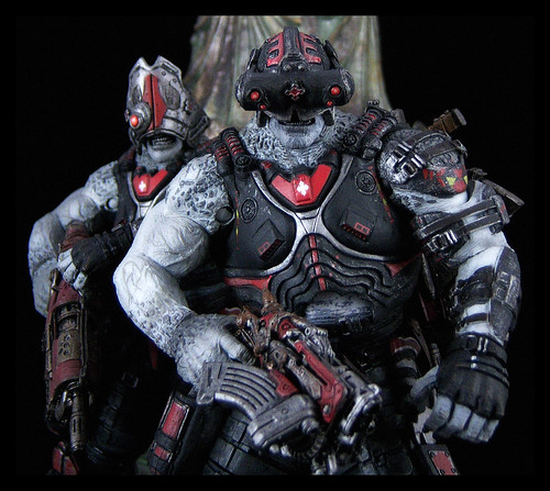 NECA Gears of War - Grappler and Cyclops Locust Drones 04 - a ... on call of duty black ops drone, dead rising 3 drone, splinter cell blacklist drone, x-wing drone, halo 3 drone,