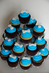 Tiffany Blue Cupcakes (TheLittleCupcakery) Tags: birthday cupcakes little ribbon tiffany tlc cupcakery xirj klairescupcakes
