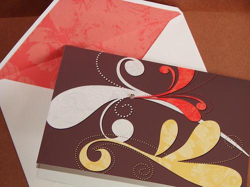 Swirl Card (Brown)