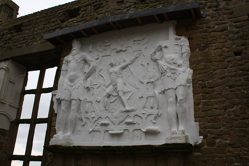 Plaster mouldings at Hardwick Old Hall