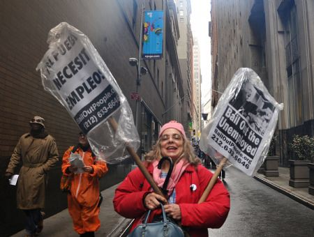 Anti-Capitalist protestors on Wall Street, April 3, 2009. by Pan-African News Wire File Photos
