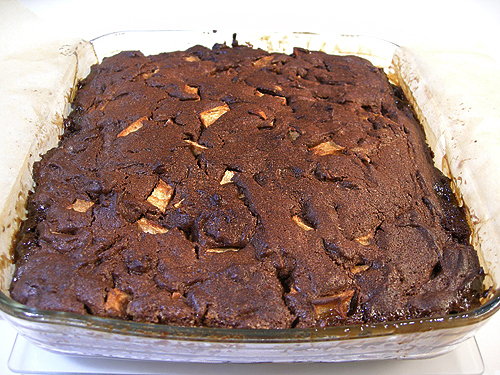 Brownies a la tarte tatin (翻轉蘋果塔式布朗尼)-090408