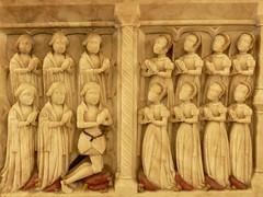 Elizabethan alabaster chest tomb with children - Stanford-on-Avon