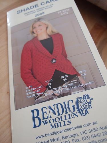 Bendigo Woollen Mills Shade Card 2009