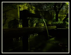 Osaka castle spring water pond