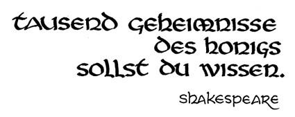 honig-shakespeare von Ihnen.