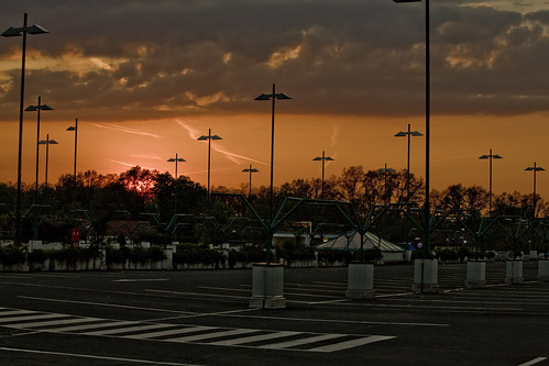 Sonnenuntergang Parkhausdeck