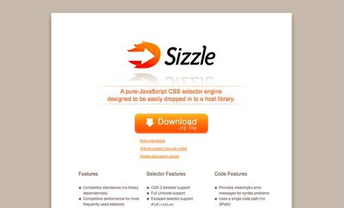 New Sizzle.js Site