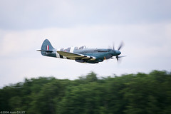 IMG_5890 copie (AlainG) Tags: france plane canon la fighter wwii meeting airshow 5d spitfire 2008 avion 389 supermarine alais ferte mkxix fazjs