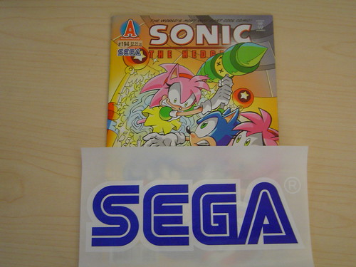 Sonic Comic and SEGA Sticker