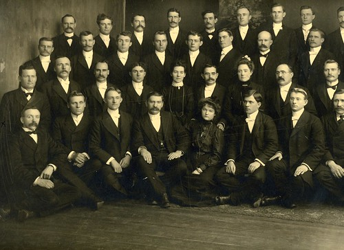 Isaac Brough Law (Far left, 2nd row) - ca. 1899