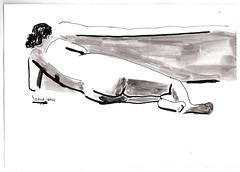 Mujer tumbada (Heart Industry) Tags: ink mujer drawing modelo human dibujo tinta humana figura apunte delnatural digure