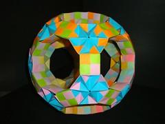 Sonobe- Great-Rhombicosidodechahedron (Modular Origami) (Origami Tatsujin 折り紙) Tags: art colors paper paperart origami geometry great shapes modular sonicboom fold create multicolored japaneseart papiroflexia module papercraft unit papercrafts polyhedra modularorigami おりがみ multidimensional rhombicosidodecahedron 折り紙 geometricbeauty geometricart cooperativelearning colorfulart origamipolyhedra tetrahedralsymmetry sonobemodule greatrhombicosidodecahedron analyticalgeometry origamitutorial rhombicosidodechahedron greatrhombicosidodechahedron mathematicsofpaperfolding mathematicsorigami origamitechniques
