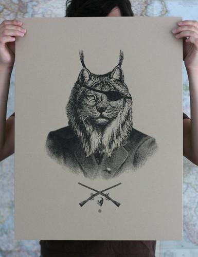 General Lynx Screen Print
