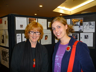 Robyn Stewart and Eleanor Catton at the openin...