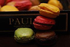 Macrons (Unique'Queen) Tags: pink brown green coffee yellow paul chocolate coco mes minis macarons