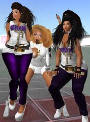 The Girls & I @ Street Dermatology HQ (Street Dermatologist) Tags: life black fashion hair skins african afro nappy sl american second braids latina ganguro hime kinky cornrows gyaru naptural