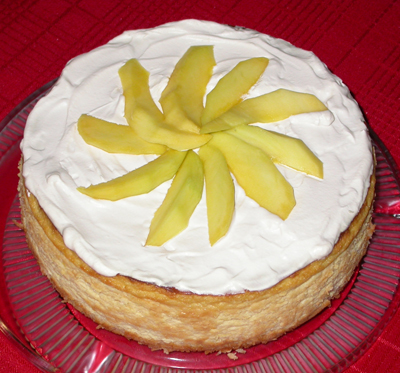 Orange Coconut Mango Cheesecake