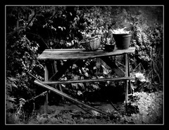 Table bw (philwirks) Tags: new art public interesting random derbyshire picnik myfavs prismatic luminosity philrichards wirksworth yourpreferredpicture show08 flickrinfullcolor unlimitedphotos