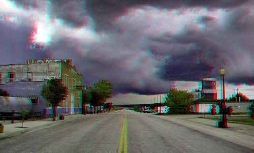 Main Street, Chugwater Wyoming (3D)