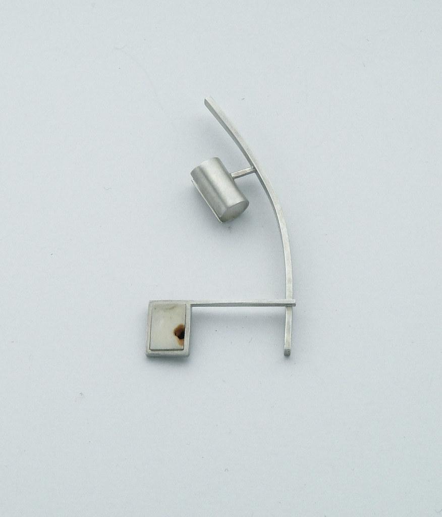 Silver man's earring